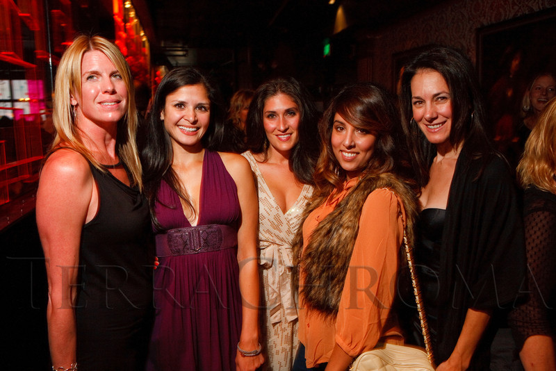"(Denver, Colorado, Sept. 17, 2011)<br /> Amy Thatcher, Sima Evans, Jen Salimi, Sameera Ahmed, and Leah DiMarco.  The Eighth Annual Volunteers of America Fashion Show, ""The Sweet Life,"" at Suite Two Hundred in Denver, Colorado, on Saturday, Sept. 17, 2011.<br /> STEVE PETERSON"
