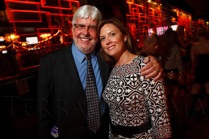 "(Denver, Colorado, Sept. 17, 2011)<br /> Jim White and Heather Spencer.  The Eighth Annual Volunteers of America Fashion Show, ""The Sweet Life,"" at Suite Two Hundred in Denver, Colorado, on Saturday, Sept. 17, 2011.<br /> STEVE PETERSON"