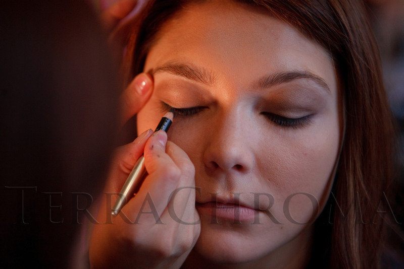 "(Denver, Colorado, Sept. 17, 2011)<br /> Andrea has makeup done by Anna Siromjatnikova with the Oxford Club.  The Eighth Annual Volunteers of America Fashion Show, ""The Sweet Life,"" at Suite Two Hundred in Denver, Colorado, on Saturday, Sept. 17, 2011.<br /> STEVE PETERSON"