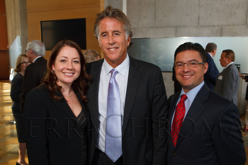 (Denver, Colorado, Sept. 23, 2011)<br /> Laura Romero, Christopher Kennedy Lawford, and Jason Romero.  The 2nd annual Arapahoe House luncheon at the Donald R. Seawell Grand Ballroom, Denver Center for Performing Arts, in Denver, Colorado, on Friday, Sept. 23, 2011.<br /> STEVE PETERSON