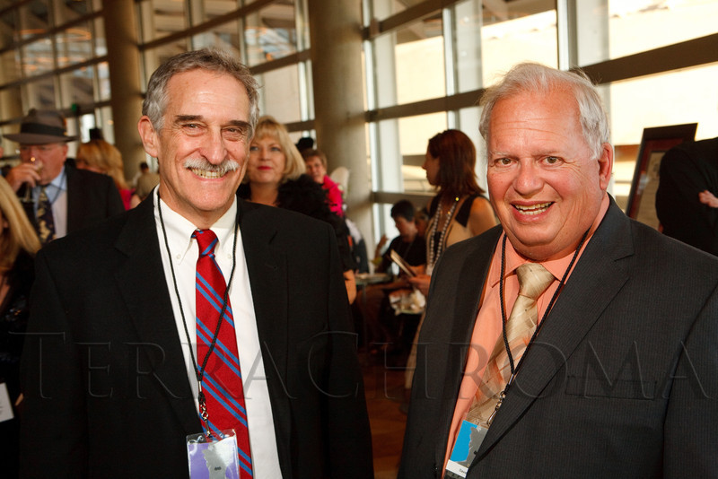 (Denver, Colorado, Sept. 23, 2011)<br /> Howie Movshovitz (DSFF artistic director) and David Shepard (DFSS Lifetime Achievement Award recipient).  VIP party honoring David Shepard during opening night of the Denver Silent Film Festival at the Crescent, in The Denver Center for the Performing Arts, Helen Bonfils Theatre Complex, in Denver, Colorado, on Friday, Sept. 23, 2011.<br /> STEVE PETERSON