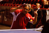 (Denver, Colorado, Sept. 30, 2011)<br /> Emad Hussain (pictured) and Marilyn Feinstein provide a table tennis demonstration.  The 10th Annual Diplomats Ball: A Celebration of Ping Pong Diplomacy, an annual fundraiser for the Institute of International Education Rocky Mountain Regional Center, at Magness Arena, University of Denver, in Denver, Colorado, on Friday, Sept. 30, 2011.<br /> STEVE PETERSON