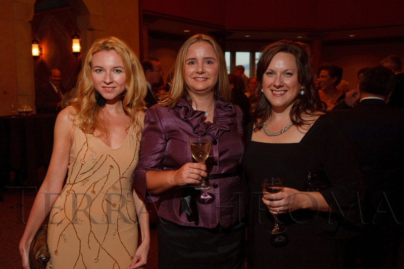 (Denver, Colorado, Sept. 30, 2011)<br /> Anastasia Darwish, Aubrey Ardema, and Erin Green.  The 10th Annual Diplomats Ball: A Celebration of Ping Pong Diplomacy, an annual fundraiser for the Institute of International Education Rocky Mountain Regional Center, at Magness Arena, University of Denver, in Denver, Colorado, on Friday, Sept. 30, 2011.<br /> STEVE PETERSON