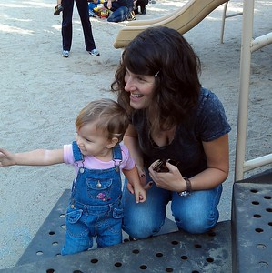 Shai and Abby at the playground