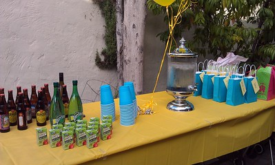 Beverages and party favors