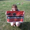 Shannon at her graduation party.