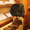 Shi Lei with the 59 rare books from the Kaifeng Synagogue