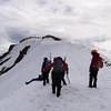 On the lip of the ridge