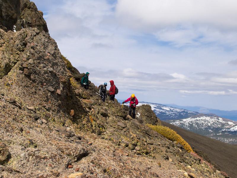 Descending rock