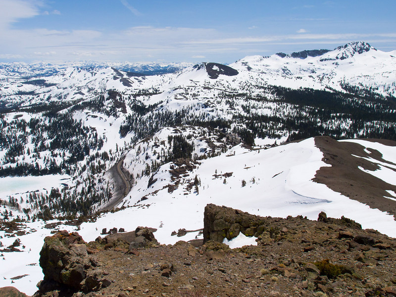 Looking down on Carson Pass