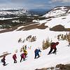 Climbing snow