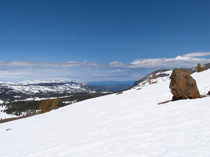 Looking north toward Lake Tahoe