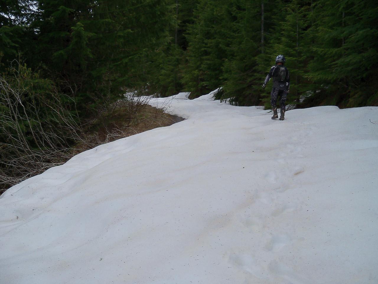 Snow near Rock Pt. on 2352 road..