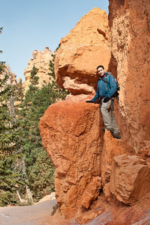 Andy hangin' out on some rocks at Bryce