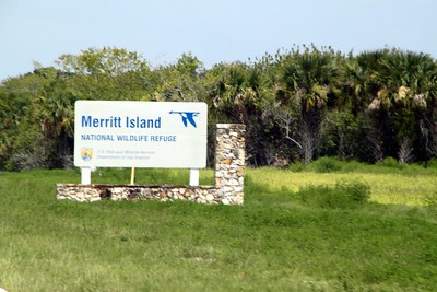 Sign for the Merritt Island National Wildlife Refuge