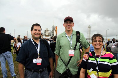 Virginia Tech Hokies @CraigFifer @VTjawo @RennaW with Space Shuttle Atlantis on Launch Pad 39-A