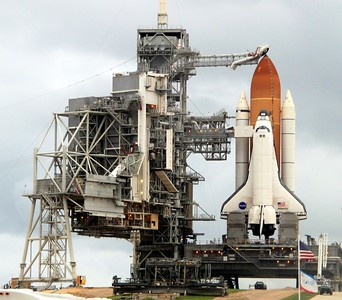 Space Shuttle Atlantis on Launch Pad 39-A