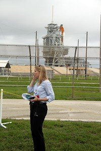 @schierholz with Space Shuttle Atlantis on Launch Pad 39-A
