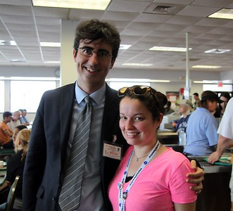 @glancz with correspondent John Oliver, the morning of his report on the launch for The Daily Show