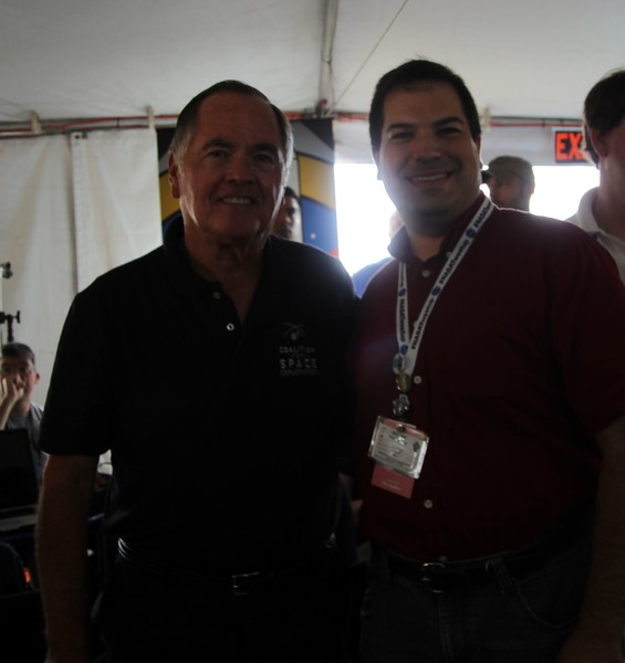 Craig with Bob Crippen, the pilot of the first Space Shuttle launch in history (STS-1)