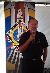 Bob Crippen, the pilot of the first Space Shuttle launch in history (STS-1)