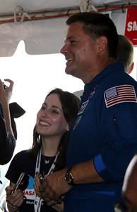 @KelleyApril with astronaut Doug Wheelock (@Astro_Wheels)