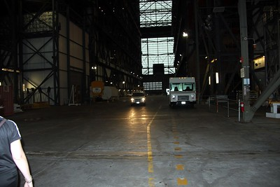 The Vehicle Assembly Building is so big, it has its own driving lanes