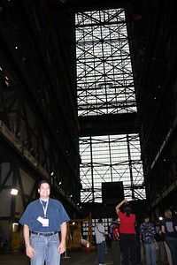 Craig, inside the Vehicle Assembly Building