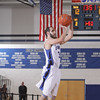Mount Saint Mary Knight Dylan McCann (#3) shoots a jump shot against SUNY New Paltz on Tuesday, November 22, 2011 in the Kaplan Center in Newburgh, NY. MSMC defeated SUNY New Paltz, 95-88. Hudson Valley Press/CHUCK STEWART, JR.