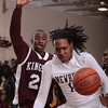 Newburgh Free Academy Goldback Jonte Rutty (12) allows the ball to go out of bounds against Kingston on Thursday, February 10, 2011 in Newburgh, NY. NFA defeated Kingston 80-64. Hudson Valley Press/CHUCK STEWART, JR.