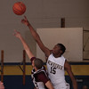 Newburgh Free Academy Goldback's Parish Canty (15) wins the opening top off against rival Kingston on Thursday, February 10, 2011 in Newburgh, NY. NFA defeated Kingston 80-64. Hudson Valley Press/CHUCK STEWART, JR.