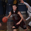 Kingston's Rob Alonso (3) brings the ball up court against rival Newburgh Free Academy on Thursday, February 10, 2011 in Newburgh, NY. NFA defeated Kingston 80-64. Hudson Valley Press/CHUCK STEWART, JR.