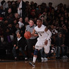 Newburgh Free Academy Goldback Jarrod Scurlock (5) brings the ball up court against Kingston on Thursday, February 10, 2011 in Newburgh, NY. NFA defeated Kingston 80-64. Hudson Valley Press/CHUCK STEWART, JR.