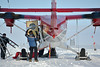 The U.S. PARCA team arrived by Twin Otter. Using NEEM as a hub they maintained a large number of automatic weather stations along the 2000 m contour of the Greenland Ice Sheet.<br /> <br /> Photo: Martin Leonhardt