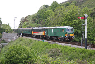 73136 Corfe Castle 07/05/11 with 73205