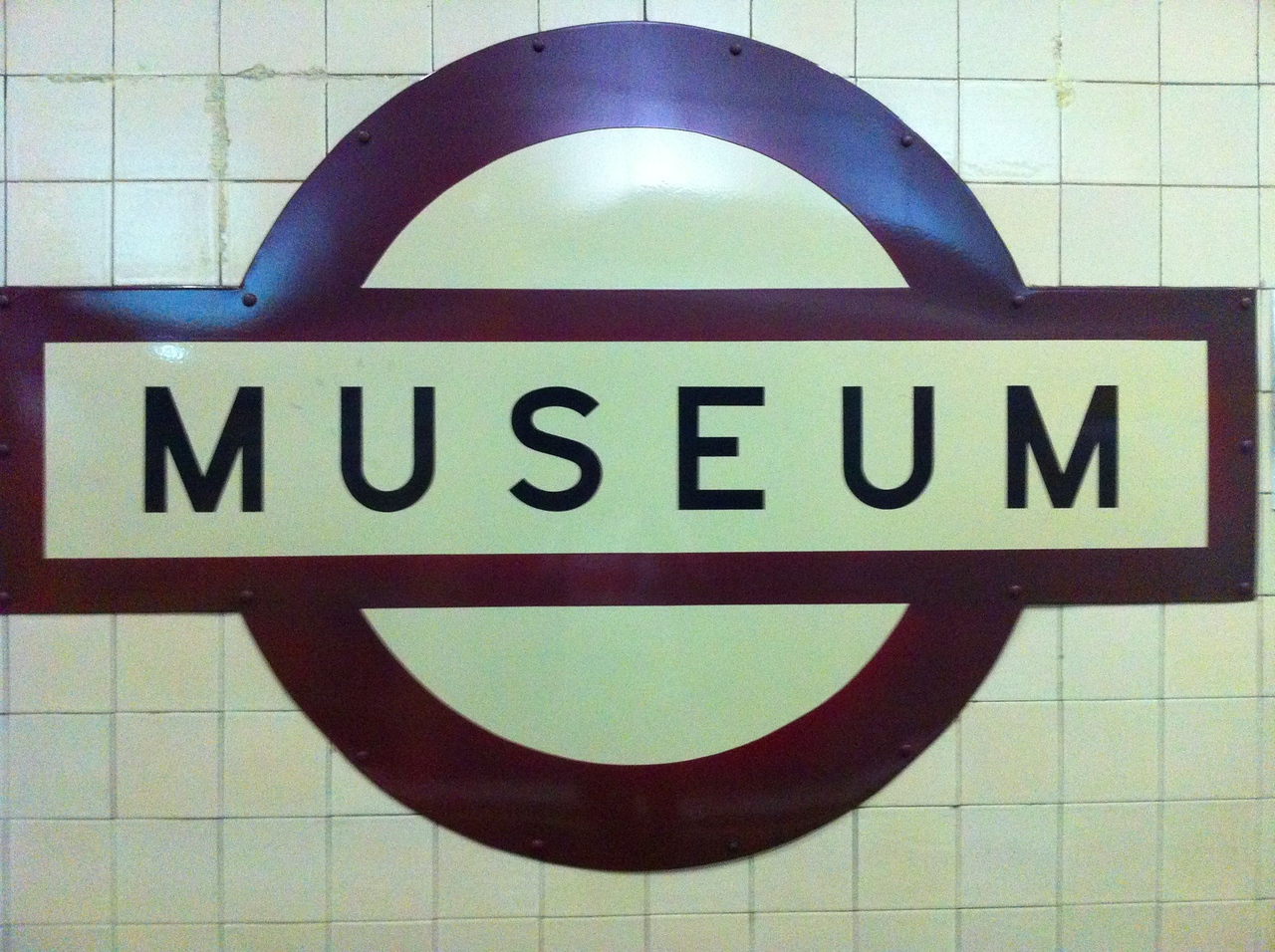 Old-fashioned roundels at train stations