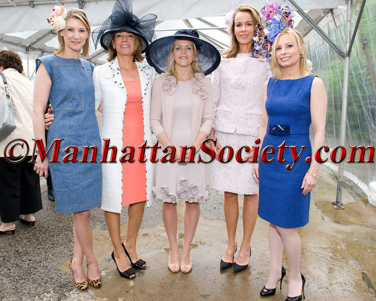 Lizzie Tisch, Anne Harrison, Virginia Apple, Julia Koch &  Gillian Miniter attend THE 29th ANNUAL FREDERICK LAW OLMSTED AWARDS LUNCHEON To Benefit Central Park Conservancy on Wednesday, May 4, 2011 at The Conservatory Garden in Central Park, Fifth Avenue at 105th Street, New York City  PHOTO CREDIT: Copyright ©Manhattan Society.com 2011