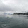 Cloudy lakeshore