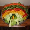 Turkey veggie tray,  (missing a few cucumbers)