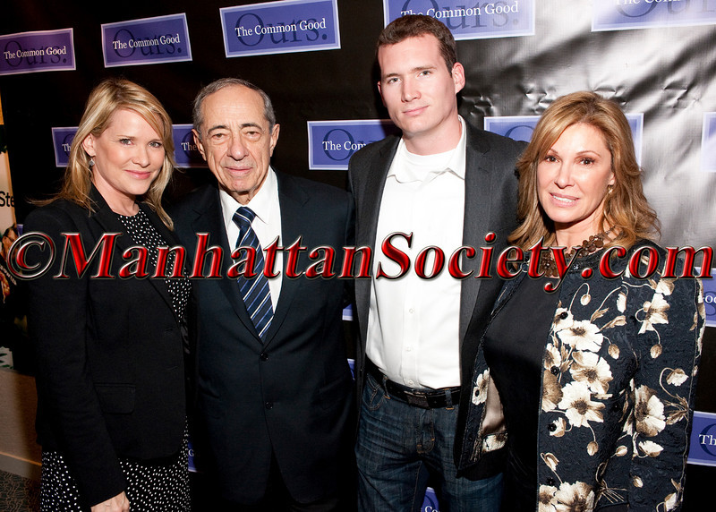 "Patricia Duff, Colin Godard, Mario Cuomo, Maria Cuomo Cole attend The Common Good Hosts Screening for ""Living for 32"" on Monday, April 25, 2011 at The Paley Center for Media, 25 W. 52nd Street, New York City, NY  PHOTO CREDIT: Copyright ©Manhattan Society.com 2011 by Christopher Dwight Mejia London"