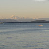 Sunset with Mt. Baker in the background.