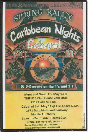 "Triple B's Spring Rally ""Caribbean Nights"" Carbaret"