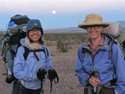 Moonrise over Pov and Martha
