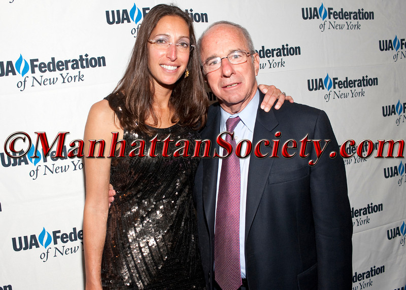 "Lisa Silverstein, John S. Ruskay, Ph.D.attend  UJA-Federation of New York's Downtown Division first annual downtown event — ""Party On Top of the World"" on Wednesday, May 11, 2011, at 7 World Trade Center, New York City  PHOTO CREDIT: ©Manhattan Society.com 2011"