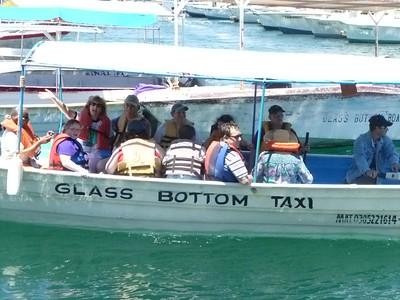 Glass bottom boat ride in Cabo...