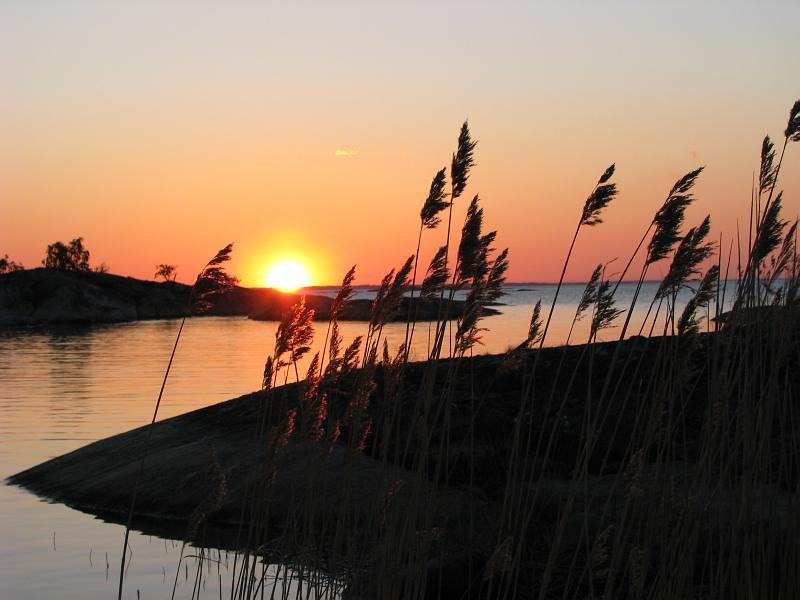 Solnedgång vid Kallskär