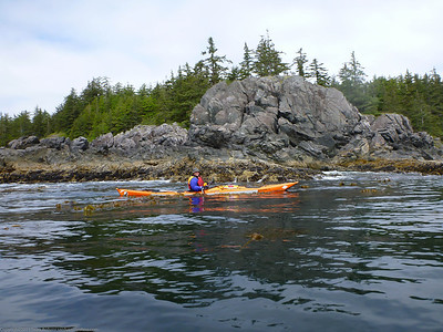 Sean on our first full paddle day heading to the Bunsby Islands.