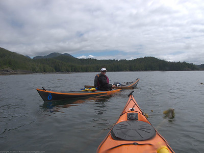 Lara on our first full paddle day heading to the Bunsby Islands
