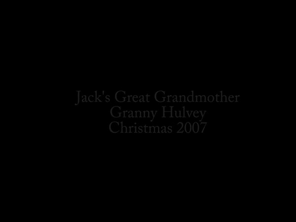 Jack's Great Grandmother Granny Hulvey holding him on Christmas Day