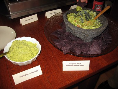 220040 Delta Lima Bean Dip; Overgrown Pile of Microchips and Guacamole